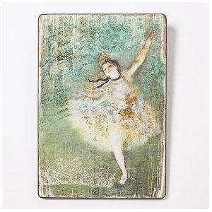 """Degas Ballerina wall plaque """"The Star"""""""