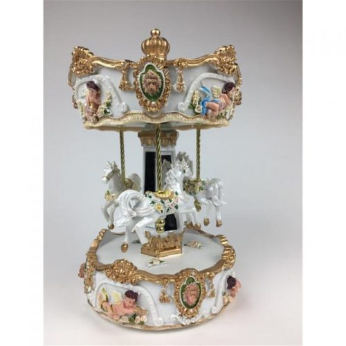 Large Lions Head Carousel side view
