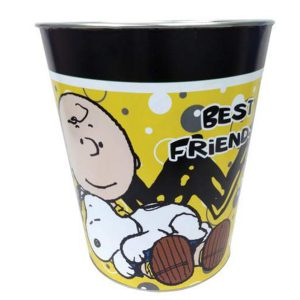 Charlie Brown and Snoopy wastebasket