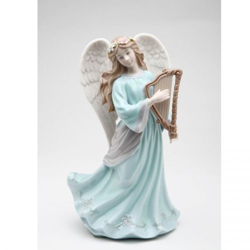 Porcelain Musical Angel with Harp