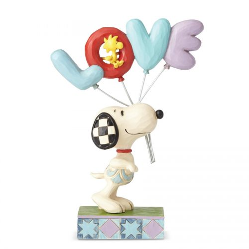 Snoopy and Woodstock Love Balloons