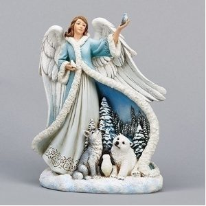 Winter Angel with Animals