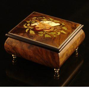 Italian Jewelry Box Walnut 17CVM