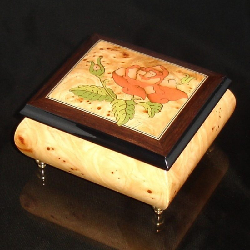 Italian Jewelry Box Elm 17Rose