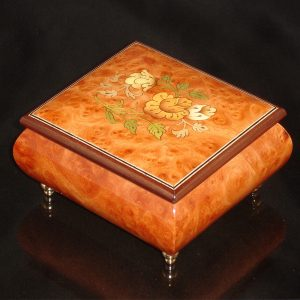 Italian Jewelry Box Burl Elm 17CF