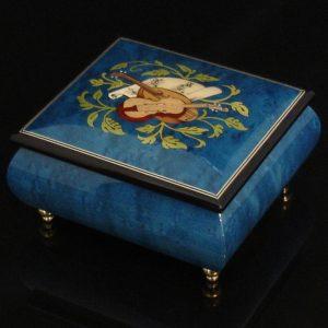 Italian Jewelry Box Dark Blue 17CVM Black trim