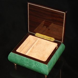 Italian Jewelry Box Green 17CVM opened