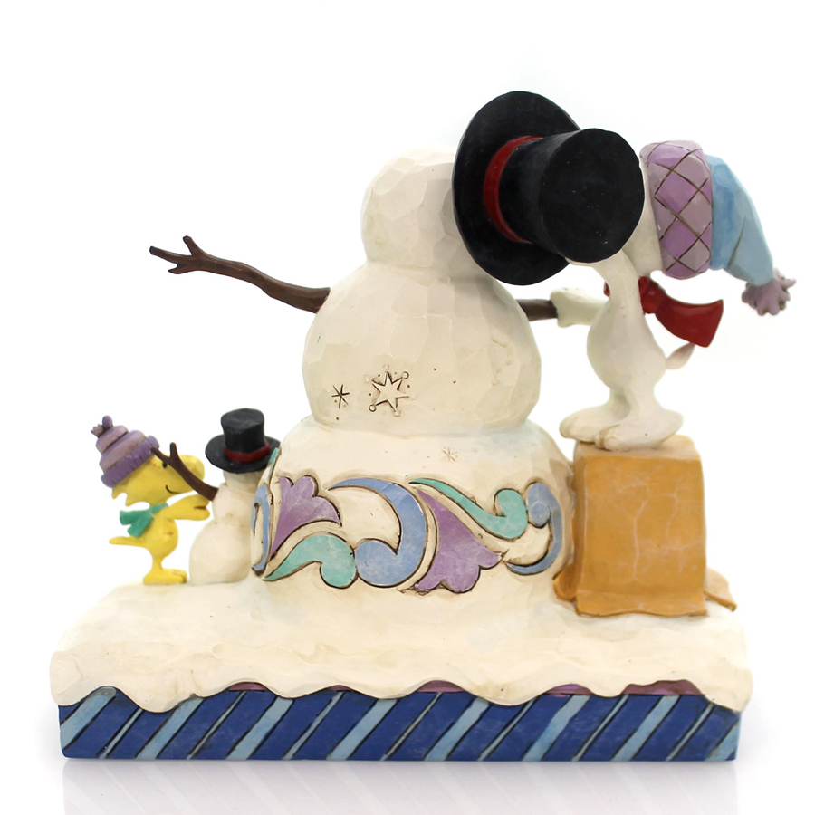 Snoopy and Woodstock Building Friendships by Jim Shore 4057671 back view