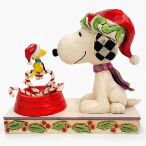 Snoopy Candy Cane Christmas back view