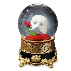 Phantom Mask and Rose musical water globe 51855