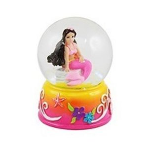 Mini Brunette mermaid water globe