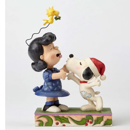 Snoopy kisses Lucy