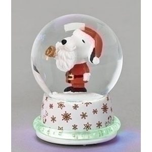 Mini Snoopy as Santa Globe