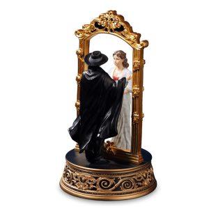 Phantom and Christine Through the Mirror musical figurine