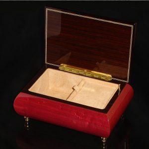 Italian Jewelry Box Wine Red 04CVM opened