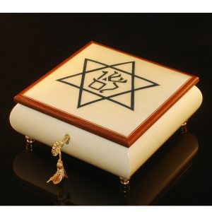 Italian Jewelry Box Star of David with Shalom
