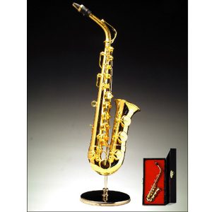Miniature Saxophone with stand and case BRO5