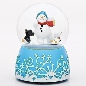 MusicalSkating Snowman globe with Artic animals. Musical
