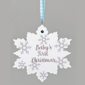 Baby's-First-Christmas-blue snowflake ornament