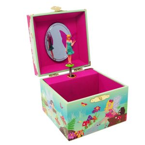 Forest Fairy small musical jewelry box-open