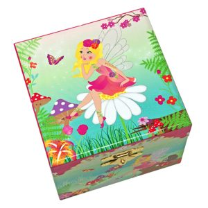 Forest Fairy small musical jewelry box-top