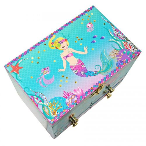 Under the Sea Musical Jewelry Box - Medium-Top-View