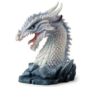 White Dragon Bust side view