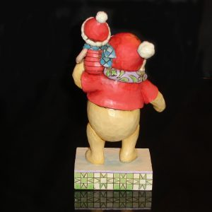 Christmas Pooh and Piglet back view