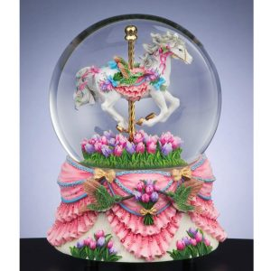 Carousel-and-Hummingbird-musical-water-globe
