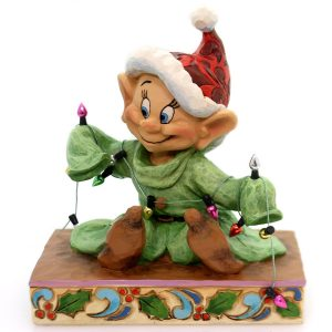 Dopey-Light-Up-The-Holidays-dwarf-figurine-by-Jim-Shore
