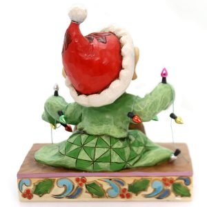 Dopey-Light-Up-The-Holidays-dwarf-figurine-by-Jim-Shore-back-view