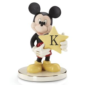 Mickey-figurine-Shining-Star-letter-K-Lenox