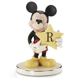 Mickey Letter Figurine Shining Star Letter R Lenox