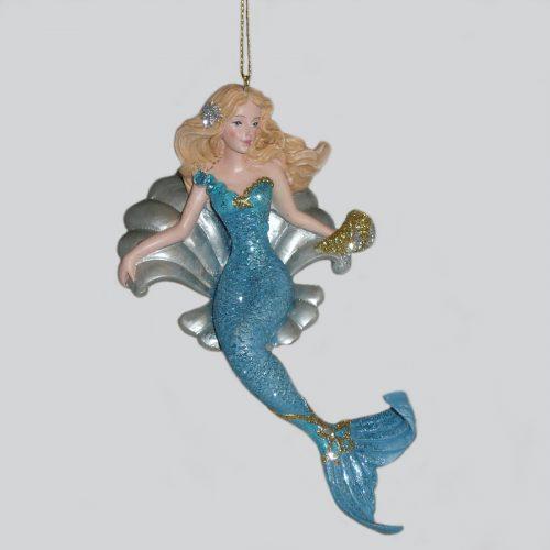 Mermaid-in-Shell-Ornament-E0214B
