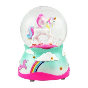 Pegasus Unicorn Musical Snow Globe