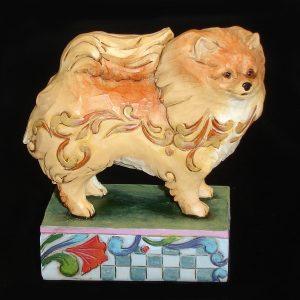 Pomeranian-Jim-Shore-figurine-front