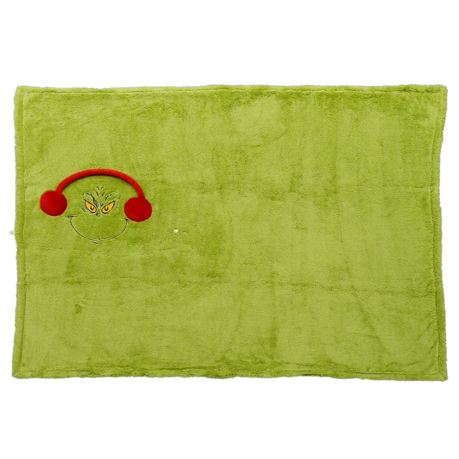 Grinch-Snow-throw-Blanket-open
