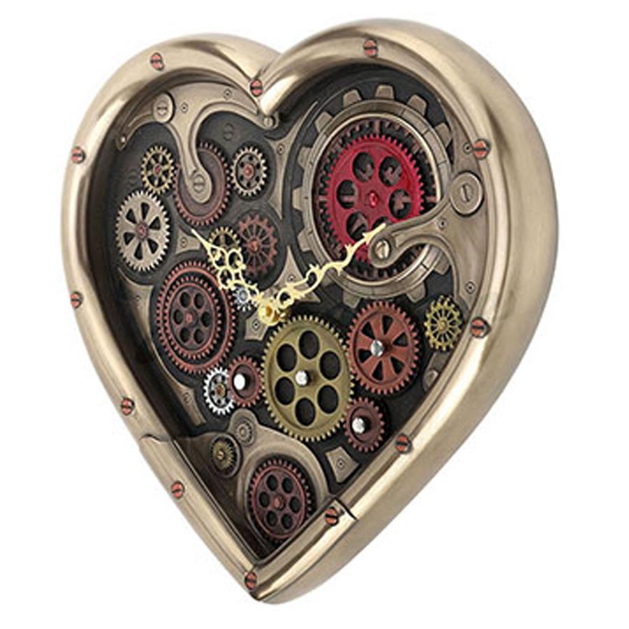 Heart-Shaped-Steampunk-Clock-side-view